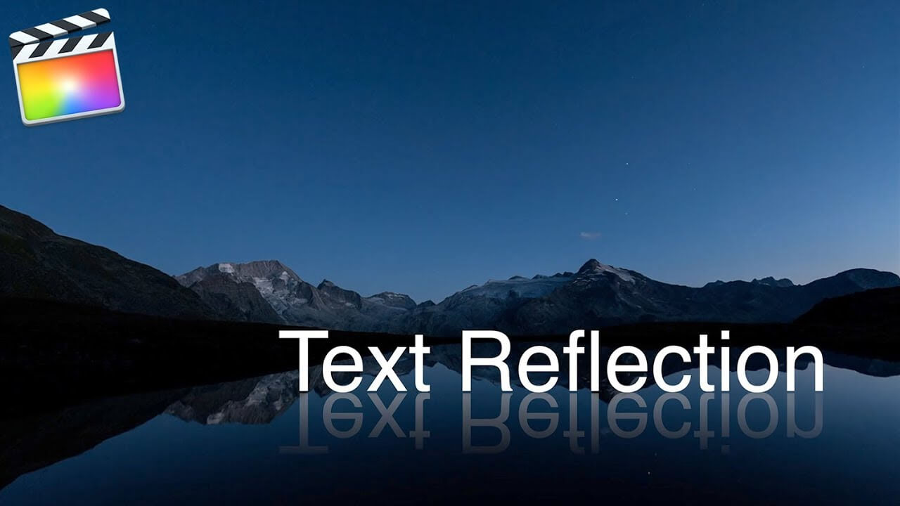 Final Cut Pro X テキストを鏡面反射の文字「Text Reflection」にする方法