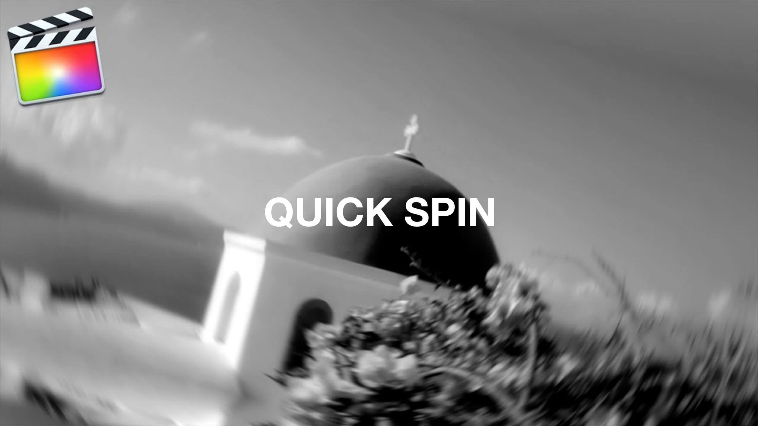 Final Cut Pro X クイックスピントランジション「Quick Spin Transition」の方法